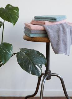LANE CRAWFORD 有机棉面巾-灰色