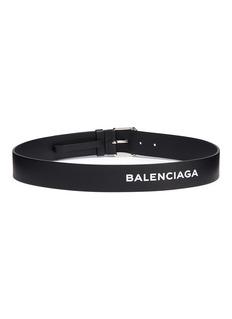 BALENCIAGA 品牌名称真皮腰带