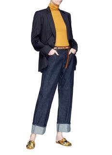 DRIES VAN NOTEN Pisco折叠设计阔腿牛仔裤