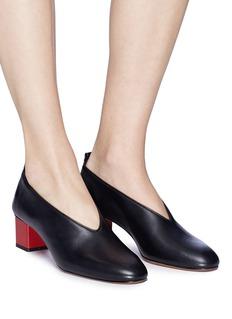 Gray Matters Mildred真皮粗跟奶奶鞋