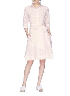 LISA MARIE FERNANDEZ 波点系带亚麻连衣裙