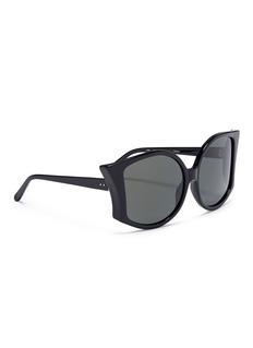Linda Farrow Lerreta蝙蝠板材太阳眼镜