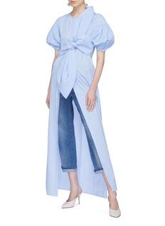 Leal Daccarett Hada系结装饰泡泡袖连衣裙