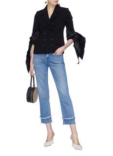 Leal Daccarett Guadalupe系结布饰双排扣夹克