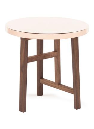 首图 –点击放大 - DE LA ESPADA: NERI&HU - Trio黑核桃木边几-铜桌板