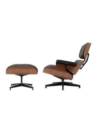 细节 –点击放大 - HERMAN MILLER - Eames真皮核桃木沙发椅与脚凳套装