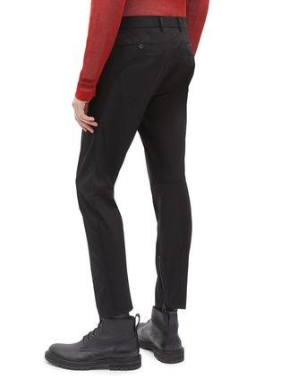 背面 - 点击放大 - Lanvin - 纯棉斜纹布机车长裤