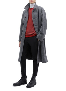 Lanvin 纯棉斜纹布机车长裤