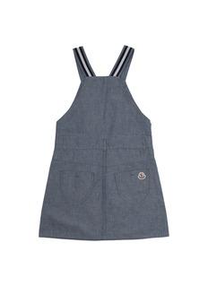 Moncler Salopette儿童款拼色条纹布饰吊带连衣裙