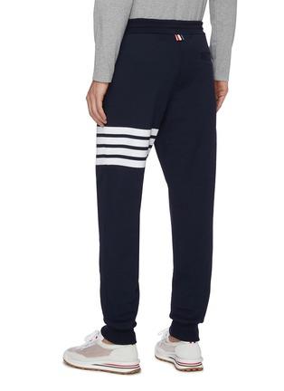 背面 - 点击放大 - THOM BROWNE - 条纹纯棉运动裤