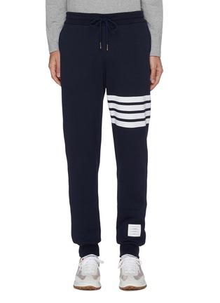 首图 - 点击放大 - THOM BROWNE - 条纹纯棉运动裤