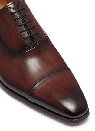 细节 - 点击放大 - Magnanni - 纹理真皮系带鞋