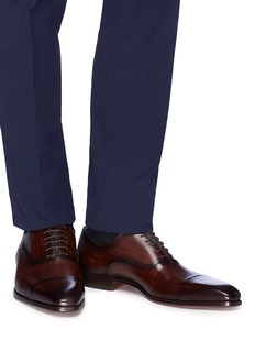 MAGNANNI 纹理真皮系带鞋