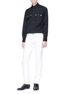 Calvin Klein 205W39NYC Policeman钮扣口袋装饰羊毛衬衫