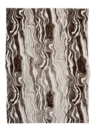首图 –点击放大 - SAVED - Marble Sepia大理石纹羊绒混耗牛毛毯