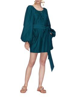 Kalita Pegasus灯笼袖系带连衣裙