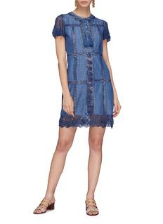alice + olivia Tona镂空编织刺绣蕾丝连衣裙
