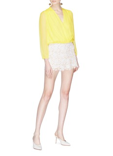 alice + olivia Trista搭叠设计真丝上衣