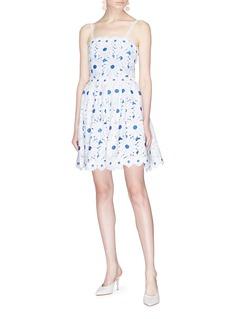 alice + olivia Vandy雏菊蕾丝吊带连衣裙