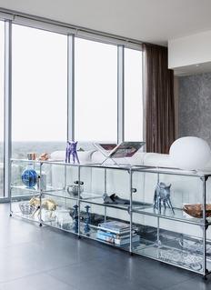 USM 组合式玻璃收纳架-透明