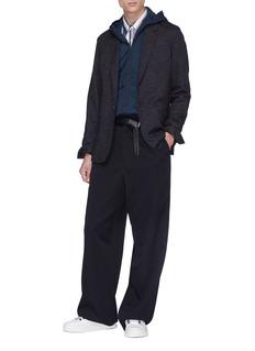 LANVIN 暗条纹羊毛混棉西服夹克