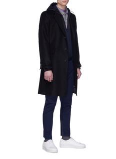 LANVIN 褶裥细节斜纹布机车长裤