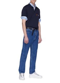 LANVIN 条纹衣领修身府绸衬衫