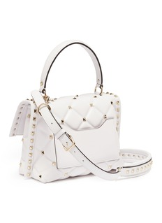 Valentino Candystud VLTN铆钉绗缝小羊皮手提包