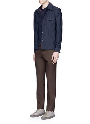 模特儿示范图 - 点击放大 - PS PAUL SMITH - 品牌标志刺绣POLO衫