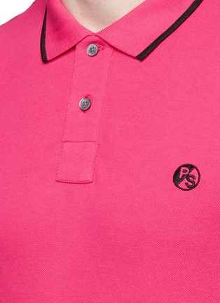 细节 - 点击放大 - PS Paul Smith - 品牌标志刺绣POLO衫