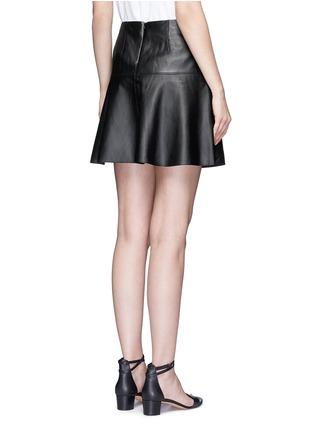 背面 - 点击放大 - VINCE - A字形羊皮半身裙