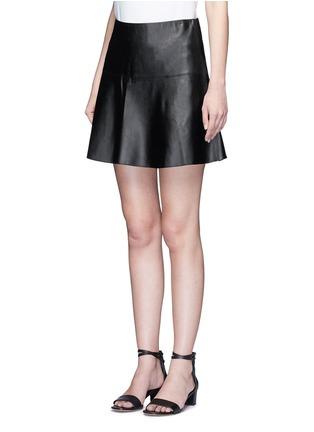 正面 - 点击放大 - VINCE - A字形羊皮半身裙