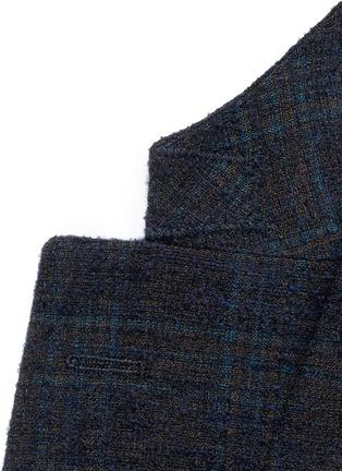 细节 - 点击放大 - BOGLIOLI - 格纹混羊毛西服外套