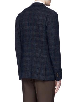 背面 - 点击放大 - BOGLIOLI - 格纹混羊毛西服外套