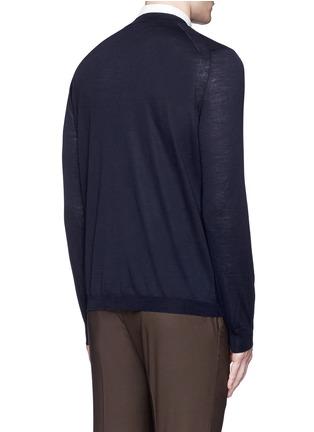 背面 - 点击放大 - BOGLIOLI - 单色羊毛针织外套