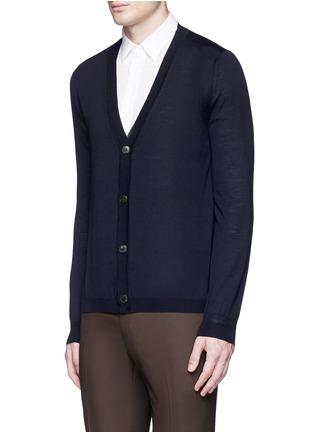正面 -点击放大 - BOGLIOLI - 单色羊毛针织外套
