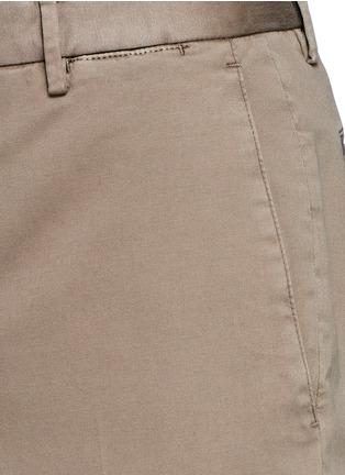细节 - 点击放大 - BOGLIOLI - 单色棉质斜纹长裤
