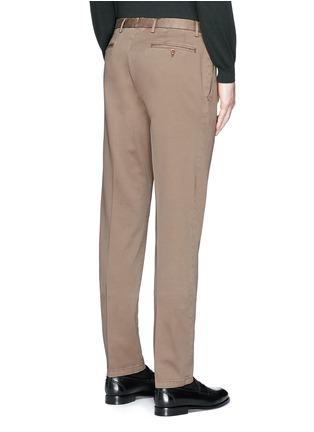 背面 - 点击放大 - BOGLIOLI - 单色棉质斜纹长裤