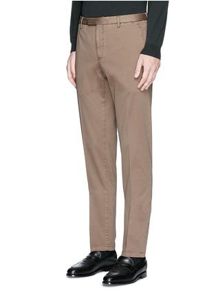 正面 -点击放大 - BOGLIOLI - 单色棉质斜纹长裤
