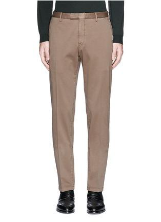 首图 - 点击放大 - BOGLIOLI - 单色棉质斜纹长裤