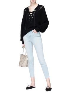 L'AGENCE Margot修身高腰露踝牛仔裤