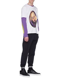 Rochambeau x Aaron Curry抽象印花长袖T恤