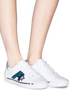 ASH Next闪粉点缀品牌标志真皮运动鞋