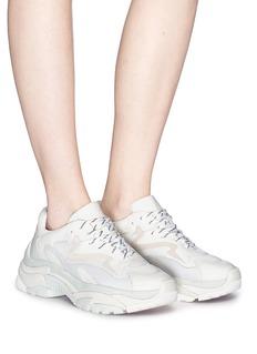 ASH Addict网眼布拼接真皮运动鞋