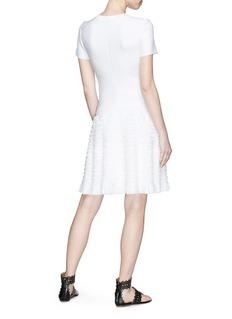 ALAÏA 立体波浪褶裥条纹针织连衣裙