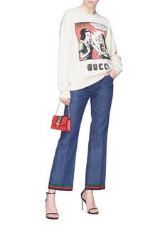 GUCCI 品牌名称白雪公主印花纯棉卫衣