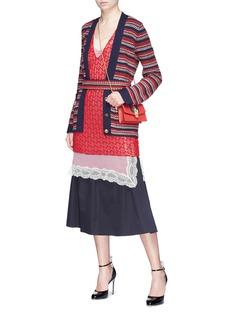 GUCCI 针织背心蕾丝连衣裙两件套