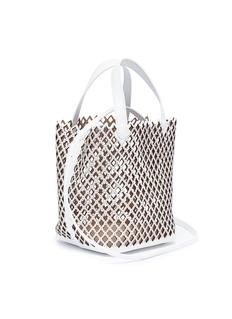 ALAÏA 迷你镂空珠饰真皮水桶包