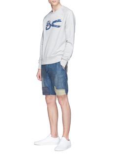 DENHAM Tokyo补丁拼贴低裆短裤