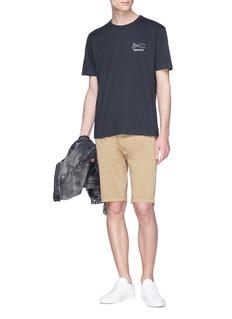 DENHAM DNA品牌标志印花纯棉T恤